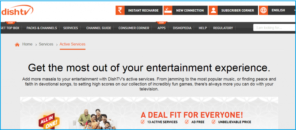 Dish TV Active Service