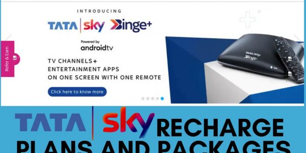 Best Tata Sky Recharge Plans, Packages, Offers 2021